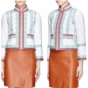J Crew Collection | Embroidered Linen Jacket